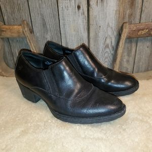 Born womens black ankle boots booties size 7.5